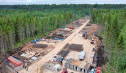 Строительство мостового перехода через реку Свирь у г. Подпорожье, Ленинградской области