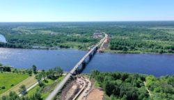 Строительство мостового перехода через реку Волхов на подъезде к г. Кириши в Киришском районе Ленинградской области